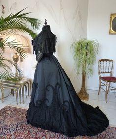 WERT schwarz Abendkleid House of Worth Antik von MadameFlorence