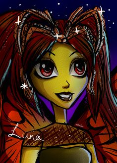 Luna Mothews Monster High sketch by artbykon.deviantart.com on @DeviantArt