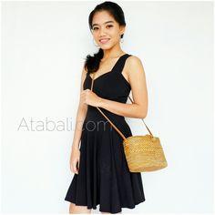 tote bags rattan ata ribbon clip sling long leather handmade