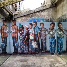"""Something new from Fintan Magee in Sydney, Australia #streetart #streetartnews @fintan_magee"""