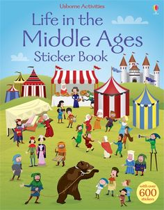 A funny historical sticker book full of busy scenes from life in the Middle Ages, to be completed with the stickers provided.  http://www.usborne.com/catalogue/book/1~H~HSB~8840/life-in-the-middle-ages-sticker-book.aspx  #sticker #book #Usborne #middle #ages #medieval #history #funny #learn #educational #activity #new #January #2015