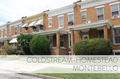 Coldstream Homestead Montebello (or CHUM) in Northeast Baltimore borders Clifton Park. The neighborhood of wide rowhomes, many with front porches or sun porches and small yards, offers easy access to all the amenities offered in the beautiful nearby park. Five playgrounds, swimming, basketball, baseball, football, soccer, tennis and an 18-hole golf course are all a short walk away! Baltimore Neighborhoods, Football Soccer, Basketball, Clifton Park, Small Yards, Playgrounds, Front Porches, Small Towns, Easy Access