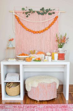 Simple Brunch Backdrop – A Beautiful Mess Dessert Party, Party Kulissen, Party Time, Party Ideas, Brunch Party Decorations, Wall Decorations, Party Favors, Diy Backdrop, Backdrops For Parties
