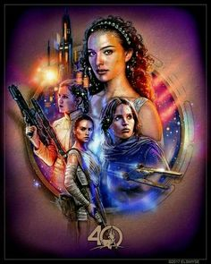 The women of Star Wars: Padme Amidala Jyn Erso Leia Organa and Rey - Star Wars Girls Ideas of Star Wars Girls - The women of Star Wars: Padme Amidala Jyn Erso Leia Organa and Rey Star Wars Film, Finn Star Wars, Star Wars Poster, Star Wars Art, Star Wars Padme, Rey Star Wars, Star Wars Jedi, Star Trek, Star Wars Tattoo