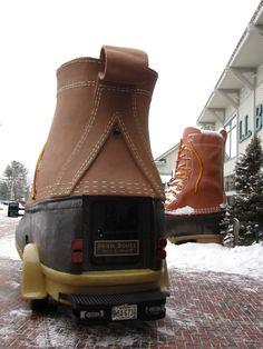 LLbean boots car