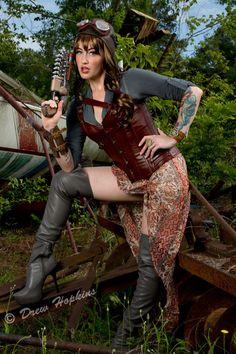 Steampunk Liz by Tsaos on DeviantArt Steampunk Design, Steampunk Diy, Steampunk Clothing, Steampunk Fashion, Beautiful Costumes, Steampunk Costume, Dieselpunk, Cosplay Costumes, Stylish