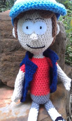 Dipper Pines Doll from Gravity Falls by SweetPeaCove on Etsy, $55.00