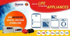 Save the life of your home appliances by using Microtek Digital Voltage Stabilizers.