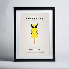 Chungkong - Superhero Ice Pop Wolverine - Framed print