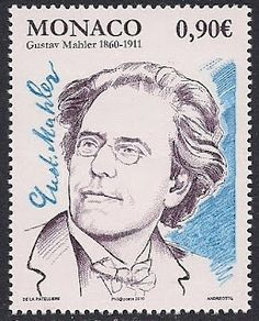Gustav Mahler on postage stamp issued by Monaco in 2009