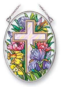 Cross and Flowers Suncatcher - Easter Garden Decorations