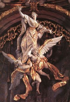 Эгид Квирин Азам - немецкий скульптор и декоратор интерьеров периода позднего барокко. Одна из его ранних работ - алтарь монастырской церкви канонников святого Августина в Роре.