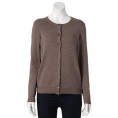 Croft & Barrow® Essential Solid Cardigan - Women's