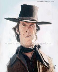 © David Duque - Caricature de Clint Eastwood
