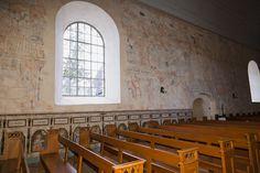 Interior Isokyrö old church.