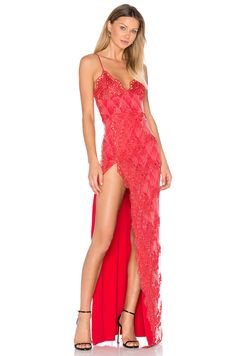 Gemeli Power Motel Jay Gown in Red