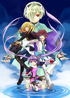 Tales of Graces - Lambda, Richard, Asbel, and Sophie Tales Of Graces, Manga Anime, Anime Art, Plastic Memories, Tales Series, Fire Emblem Fates, Story Arc, Game Concept Art, Anime Animals
