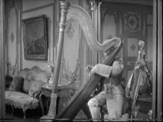 """Harpo playing the Harp (Cello & Violin) - The Marx Brothers: The Big Store  Playing renditions of:  """"Piano Sonata No. 15 in C major"""" (Mozart)  """"Minuet in G major, WoO 10, No. 2"""" (Beethoven)"""