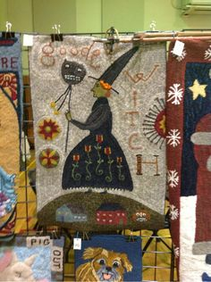 .Actually wool rug hooking