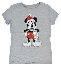 - Disney girls heather gray t-shirt - features Mickey Mouse with prismatic foil…