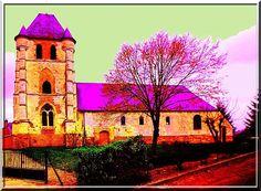Nouvion et Catillon - Aisne - Sans être devin ni spécialiste en fortifications médiévales, il semble évident que le système défensif de cette église est basé sur le puissant clocher-donjon.
