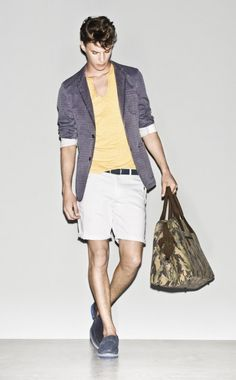 #Jacket  #TShirt #Bermudas #Belt #Scarf #Shoes Spring/Summer 2013 #Sisley #Collection - #man #fashion #camo #camouflage #bag