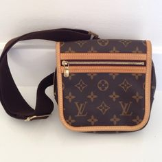100% Authentic vintage Louis Vuitton fanny pack Bought this at a Hawaii LV store in 2007. Fanny has gold tone hardware, flap front with mAgnetic closure, pocket at front with zip closure, & adjustable woven waist band with gold clasp. The whole time I've had this I only used like 5 times. Like brand new, in excellent condition. Louis Vuitton Bags Mini Bags