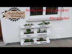 Das Beet für den Balkon einfach selber machen ganz einfach ohne viel Werkzeug. - YouTube Youtube, Diy, Crafting, Work Shop Garage, Balcony, Youtubers, Youtube Movies