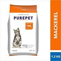 Purepet Adult 1 Year Dry Cat Food Mackerel 1 2kg Best Cat Food