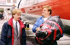 """Tommy Boy """"did you spray that thing for bugs? Matt Foley, Chris Farley, Tommy Boy, Tv Actors, Good Movies, Comedians, Movies And Tv Shows, Movie Tv, My Childhood"""