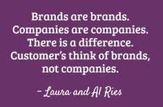 The Law of the Company for brand strategy