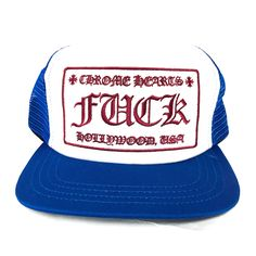 c88f2ab46d1f5 CH F CK TRUCKER CAP - BLUE  WHITE Chrome Hearts