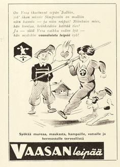 Mainos: Vaasan leipä, 1937