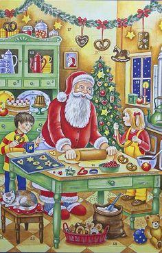 Baking with Santa large advent Christmas calendar ~ Germany