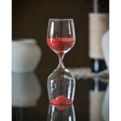 Wine Shape 30 Minute Hourglass - White or Red - Buy Online at JustHourglasses.com  $31.99