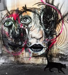 New street art pieces by graffiti artist L7M on the streets of his hometown,Sao Paulo in Brazil. 1