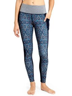 Athleta High Rise tapestry chaturanga to town tight, tall large