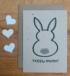 Hoppy Easter Card - Plantable Seed Paper Greeting Card, Grows Carrots!