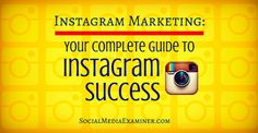 Do you want to learn how to market yourself and your business on Instagram?  Are you looking for a resource to guide your Instagram marketing efforts?  Whether you're marketing on Instagram as an individual or as a brand, these expert articles will show you how to establish a presence, use Instagram's features, encourage follower engagement and run contests.  Each of these articles will help you understand and master a specific part of marketing on the Instagram platform.
