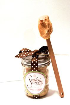 Peanut Butter and Neutella Cake by SealedSweets on Etsy, 4 for $28.00