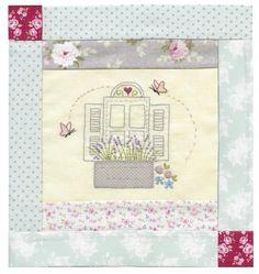 9.Girls Own Stitching Club-Le Jardin Quilt-Window.