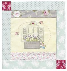 9.Girls Own Stitching Club-Le Jardin Quilt-Window.
