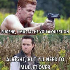 Walking Dead Hair Puns - The Walking Dead Memes that live on after the characters and season ended. Memes are the REAL zombies of the show. Walking Dead Funny, Walking Dead Zombies, Fear The Walking Dead, Real Zombies, The Walk Dead, Twd Memes, Daryl Dixon Memes, Dead Man, E Cards