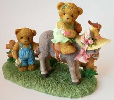 Heidi´s Cherished Teddies Galerie: VIRGINIA and SAM - Friends Come In All Shapes…