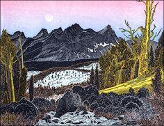 """Sawtooth Crest from Chagoopa Creek,"" by Tom Killion"