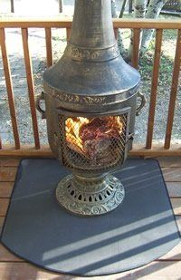 The fire resistant Chiminea pad is the newest addition to The Blue Rooster line of Chiminea accessories Fire resistant pad is made of woven fiberglass material Wood Mantel Shelf, Rustic Mantel, Wood Mantels, Fireplace Tool Set, Fireplace Screens, Mantels Direct, Patio Blocks, Timber Logs