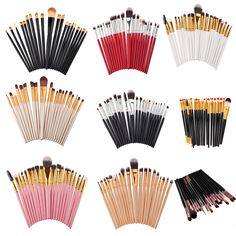 20Pcs Eye Makeup Brushes Set Eyeshadow Brush Powder Foundation Eyebrow Lip Eyeliner Makeup Brush kit Cosmetic Tool Maquiagem