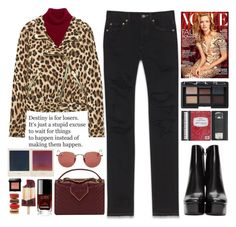 """Animal Print"" by doga1 ❤ liked on Polyvore featuring Yves Saint Laurent, Chanel, Bobbi Brown Cosmetics, ALPHA, Ray-Ban, NARS Cosmetics and Alexander Wang"