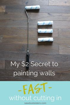 My 2 Secret to Painting Walls Fast My 2 Secret to Painting Walls Fast The best paint roller for wallsI never would 39 ve thought the solution to my problem would be so simple Painting Walls Tips, Diy Wall Painting, Painting Hacks, How To Paint Walls, Painted Walls, Painting Trim, Spray Painting, Best Wall Paint, Interior Painting