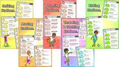 Prime coaching sport station packs, pe physcial education grade 1 kindergarten sport teaching lesson plans how to Games For Kids Classroom, Gym Games For Kids, Pe Games, Pe Lesson Plans, Teacher Lesson Plans, Physical Education Lessons, Character Education, Warm Up Games, Pe Activities